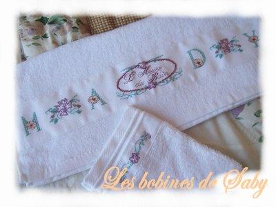serviette de toilette personnalisée