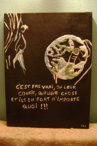 "Expo environnement ""Pauvre terre"" !!!!"