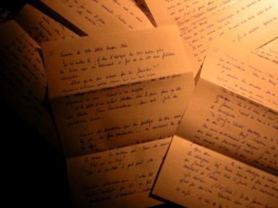Lettre posthume (texte imagé)