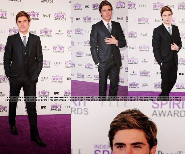 25.02.12 || Zac était sur le tapis mauve des  Film Independent Spirit Awards à Santa Monica
