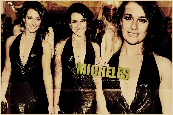 - Suis l'actualité de la merveilleuse Lea Michele Sarfati.-