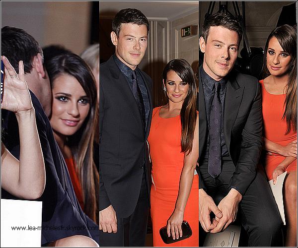"""- 01/07/2012. Lea et Cory Monteith, son boyfriend, étaient à un défilé de mode de """"Versace"""" dans notre charmante capitale : Paris. -"""