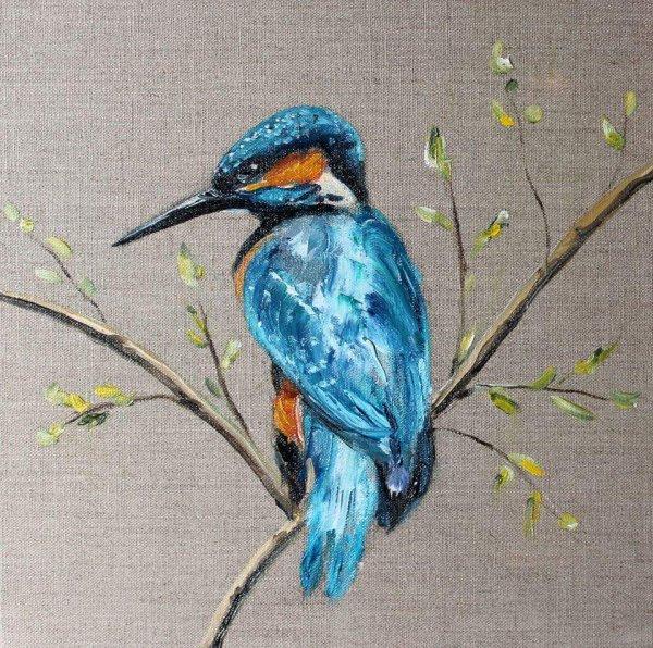 réalisation en peinture à l huile sur toile 3D en lin