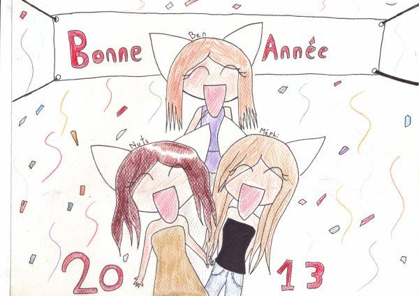 voila les dessins des fêtes de fin d'année que je poste au debut de l'année ^^