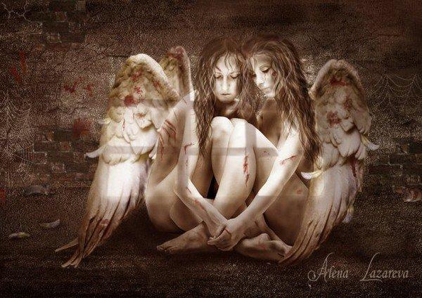 tre  bel ange  femme