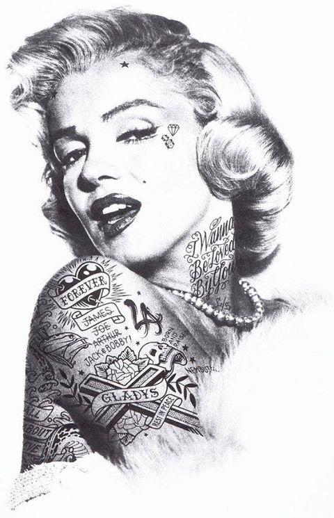 sublime  visage  de  Marilyne