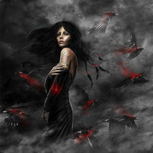 magnifique   femme   gothique