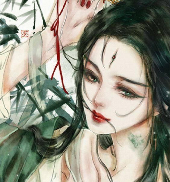 sublime  visage  de  femme  japonaise