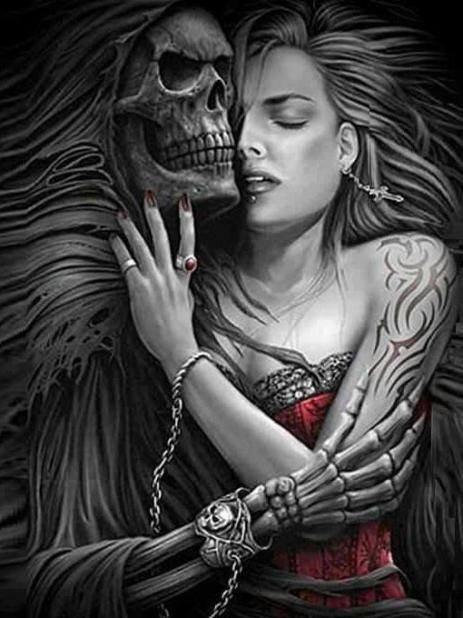 magnifique  femme  gotique