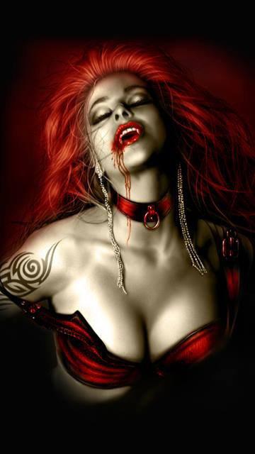 magnifique  femme   vampire