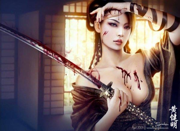 magnifique  femme  japonaise