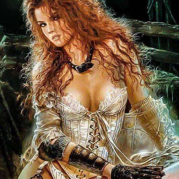 magnifique  femme  guerrière