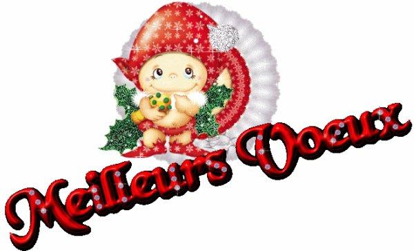 pour   mes  amis  <es> je  vous  souhaite    une  très  bon  réveillons   et une  très  bonne   année    remplis  de  joie   d amour  sante    je  vous  fait de   gros  bisous   votre   amie  ♥♥♥3