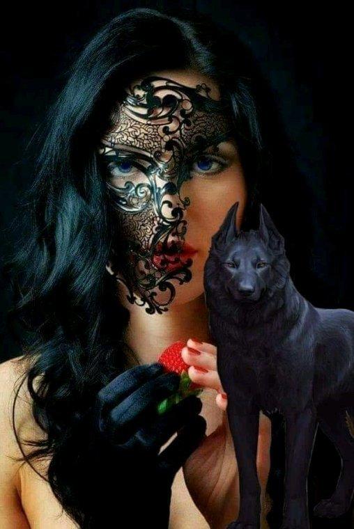 Magnifique visage de femme. Gothique