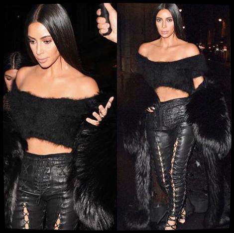 Quelques photos lors de ses apparitions parisiennes ! Kim porte des tenues des plus grands créateurs comme Balenciaga.