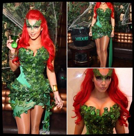 Voici différentes tenues que Kim a porté pour Halloween!