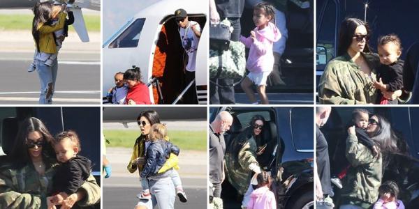 Kim & sa famille sont arrivés à Costa Rica pour des vacances.