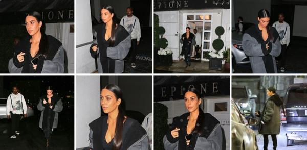 Le 7 fevrier. Kim etait à Los Angeles avec Kanye. Elle est allée à Epione un magasin.