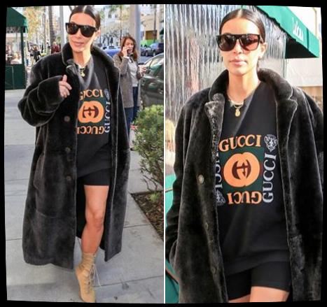 Kim à Beverly Hills le 11 fevrier 2017. J'aime beaucoup son look :-)