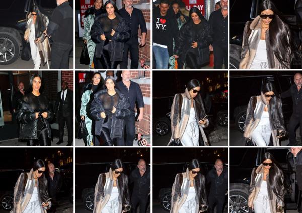 13.02.17 : Kim quittant son appartement à Manhattan.