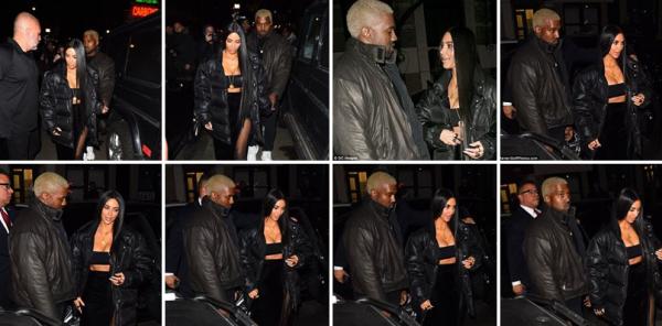 le 14 fevrier à NY Kim a été vu quittant son appartement, dans une tenue un peu spéciale, mais qui lui va cependant à merveille :)