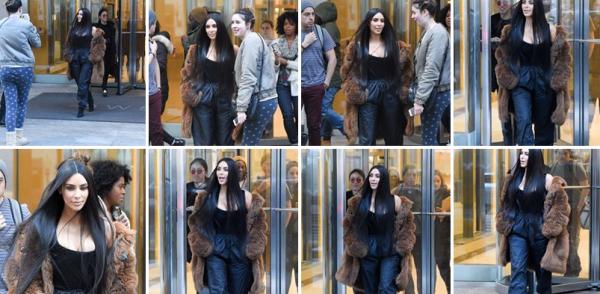 16.02.17 : Kim à New York le 16 fevrier 2017. J'adore son look ! Elle est magnifique.