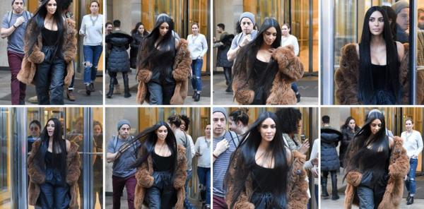 Kim à New York le 16 fevrier 2017.