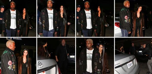 Kim est de retour à Los Angeles ! Kim et Kanye ont été apperçus à Los Ageles le 18 fevrier, pour un diner en amoureux !