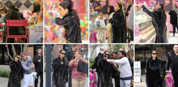 Le 27 fevrier Kim a été vue avec Kourtney dans un magasin de jouets où elles ont fait quelques achats :)
