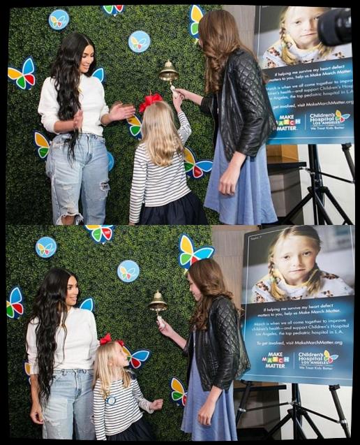 01.03.17 | Kim s'est rendu à un hopital d'enfants à Los Angeles.