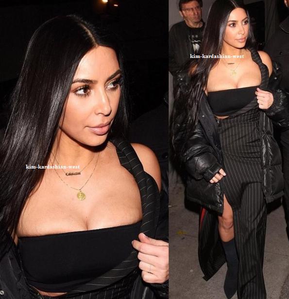 02.03.17 | Kim quittant le restaurant Graig's à Hollywood, je la trouve sublime dans cette tenue !