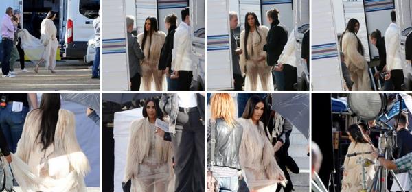 06.03.17 | Kim sur le tournage de Ocean's Eight à Los Angeles  où elle tourne quelques scènes impliquant un vol de bijoux. Elle avait déjà notamment tourné il y a quelques semaines.