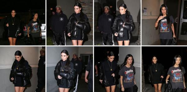 13.03.17 |  Kim a été aperçue en famille au cinéma le 13 mars.