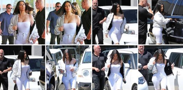 31.03.17 |  Kim  etait de sortie à Los Angeles. J'adore sa tenue tout en blanc.
