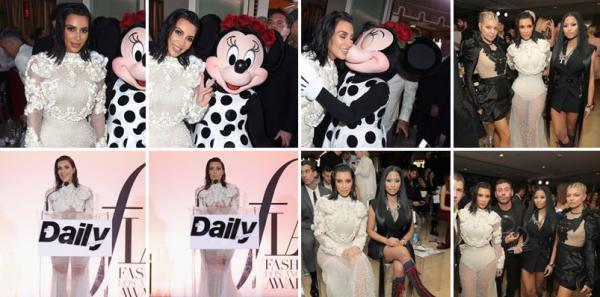 02.04.17 |  La magnifique Kim  s'est rendue au Daily Front Row Fashion LA Awards. Il y avait entre autres les chanteuses Fergie et Nicki Minaj.