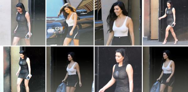 20.04.07 | Kim, Khloé et Kourtney sont allées dejeuner au restaurant Little Door, puis le soir la belle Kim a été vue toujours dans un restaurant à Los Angeles.