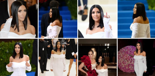 01.05.17   Comme depuis quelques années, Kimberley etait présente au Met Gala à New York. Sa tenue lui va bien, mais je m'attendais à quelque chose de plus spectaculaire... Un peu déçue de son look. Ses plus jeunes s½urs, Kendall & Kylie etaient également présente, ainsi que Nicki Minaj qu'on voit aussi sur une des photos...