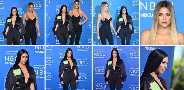 15.05.17 | Kim et Khloé ont été invitées à un évenement promotionnel du reseau de télévision Americain NBC à New York... J'adore la tenue de Kim, très classe et sobre.