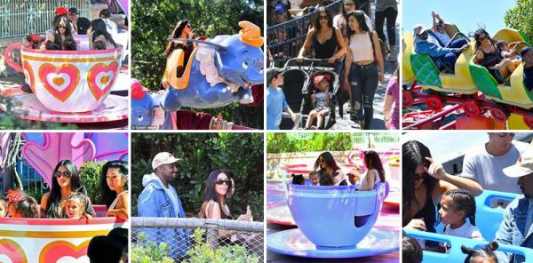 22.05.17 | Kim et Kanye se sont rendus en famille à Disneyland en Californie !