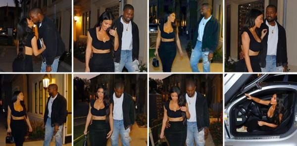 26.06.17 | Kim et Kanye sont allés diner en amoureux ! Kim est tres jolie & sexy encore !