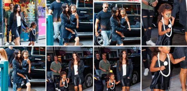 10.07.17 | La belle Kim etait de sortie à New York avec sa fille North, puis le soir elle s'est rendue au restaurant, toujours à New York.
