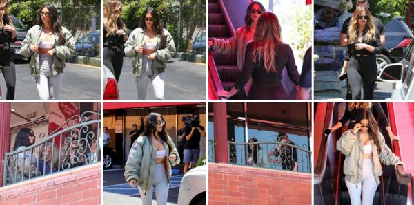 26.07.17 | Kim & Khloé sont allées dejeuner au restaurant Chin Chin à Los Angeles, puis un peu plus tard dans la même journée, Kim est allée visisté son ancienne maison.