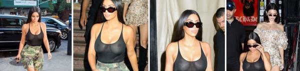 01.08.17 : Kim a été apperçue à NY pour commencer le mois d'aout. Elle porte un short aux couleurs armées ainsi qu'un haut moulant, ça lui va à ravir, non ?
