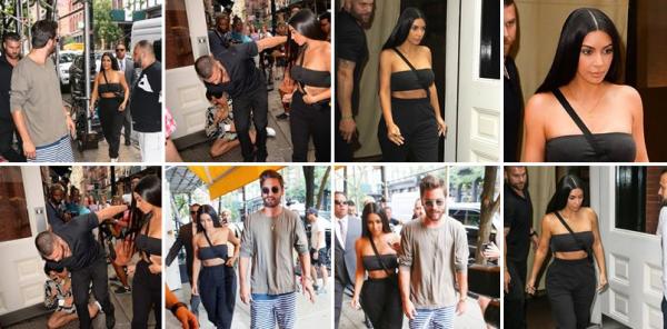 02.08.17 | Kim & Scott Disick étaient de sortie toujours à New York. Ils sont allés au restaurant Cipriani.