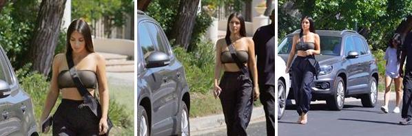 13.08.17 : Kim etait de sortie à Los Angeles.