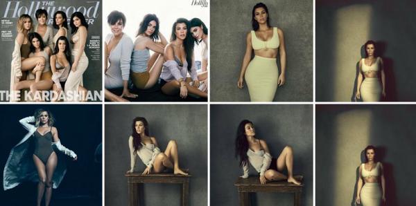 Voici les photos que Kim a réalisé avec toutes ses s½urs et la mère Kris pour The Hollywood Reporter !