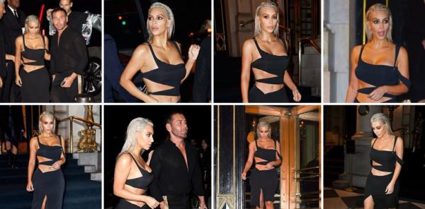 07.09.17 | Kim a été vu à New York, toujours en blonde, elle va surement garder cette couleur quelques jours, mais elle est très belle !