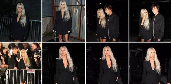 09.09.17 |Kim a été photographiée (encore!) à New York, surement en sortant d'un hôtel, puis plus tard, elle a été apperçue se rendre au défilé d'Alexander Wang aux cotés de sa mère.