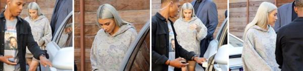 18.09.17 :Kim était à Los Angeles, toujours avec ses cheveux blonds, je la trouve rayonnante !