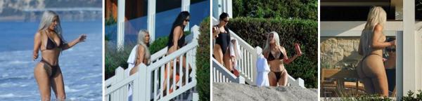 19.09.17 : Kim s'est rendue à la plage de Malibu en bikini où elle expose son corps de rêve ! ♥